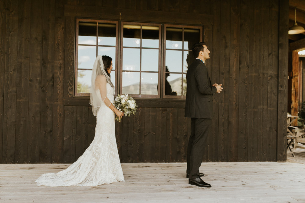 rustic victor Idaho wedding