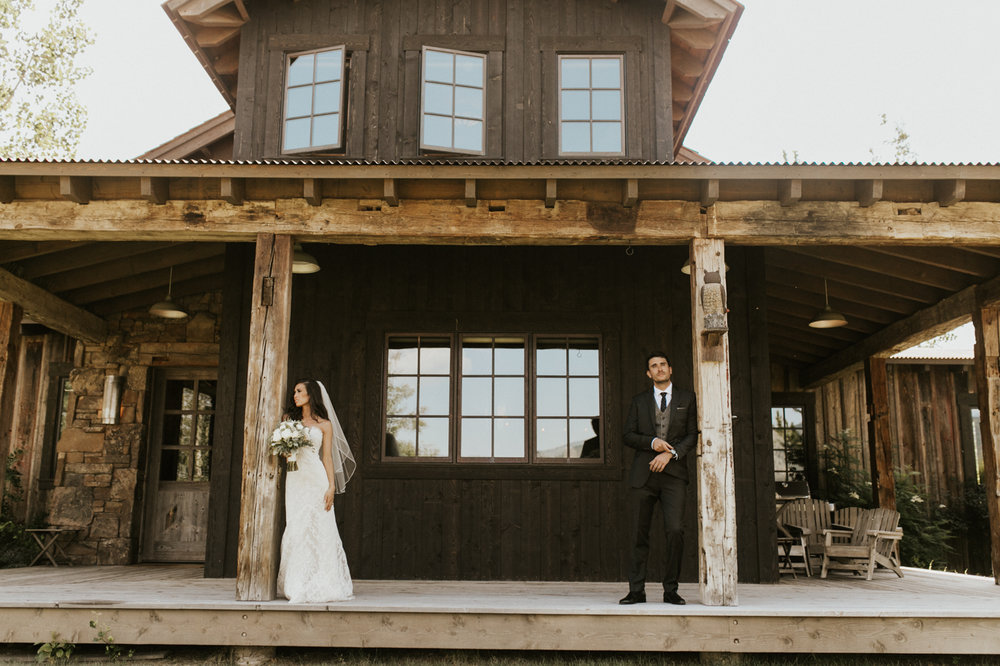 rustic mountain victor Idaho wedding