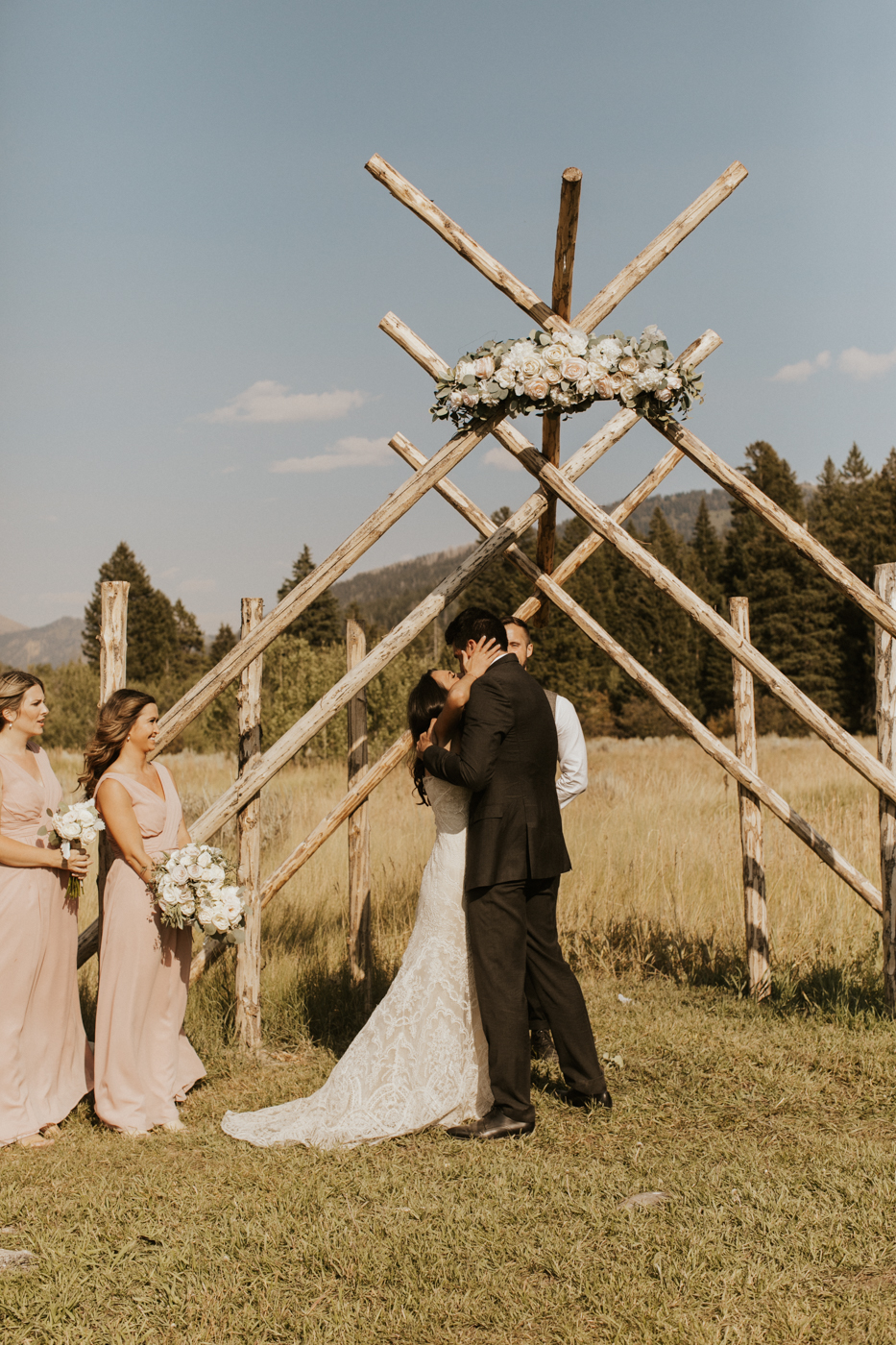 victor idaho rustic mountain wedding