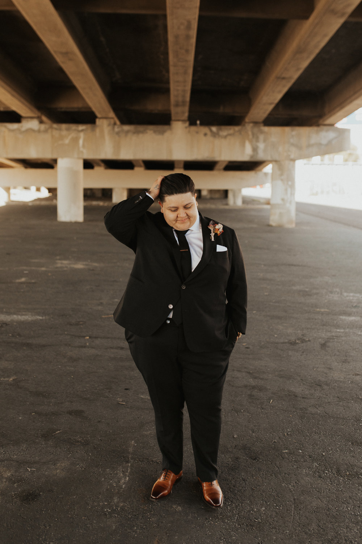 LGBTQ industrial wedding photos