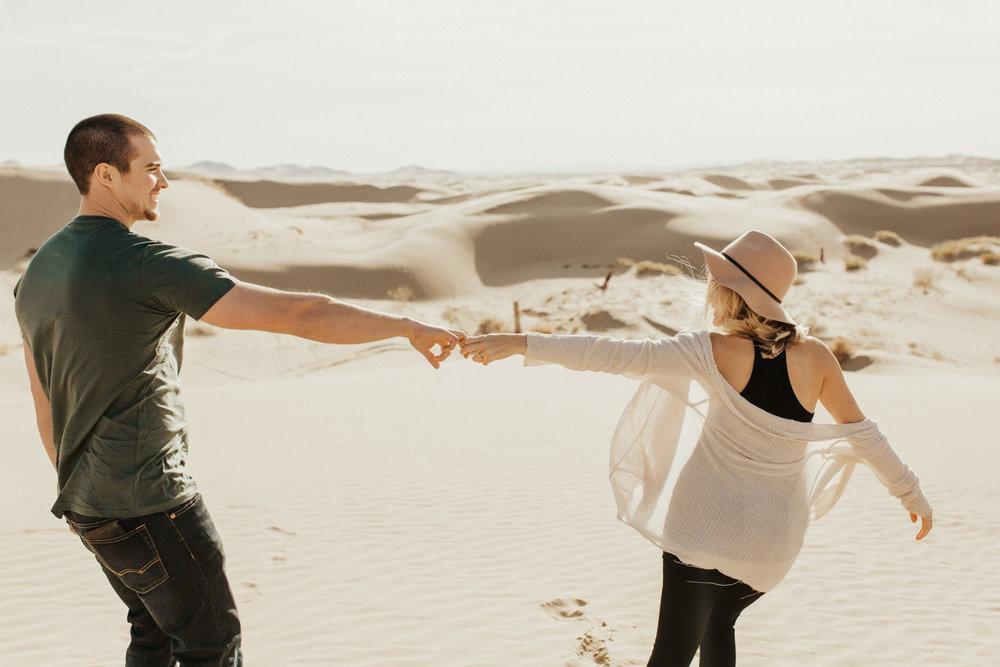 Great sand dune national park engagement photos