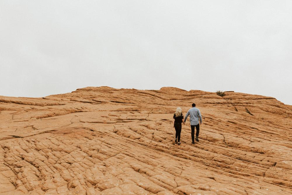 Zions national park engagement photos