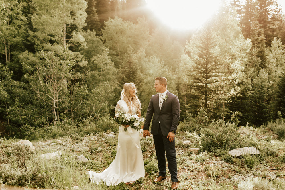 mountain forest bride photos