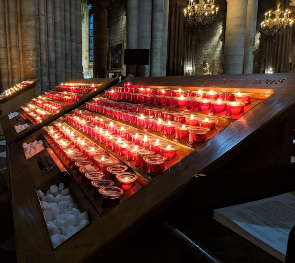 Candles at Notre Dame