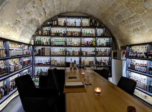 The tasting room at Golden Promise Whisky Bar