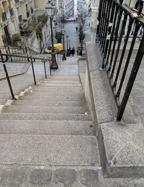 Steep stairs in Montmartre