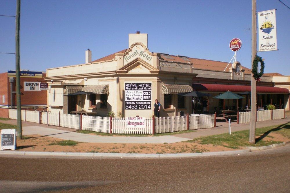 Royal Hotel Barham - A: 2 Murray St Barham NSW 2732P: 03 5453 2014