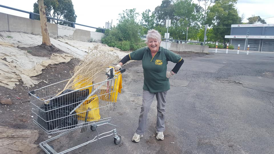 "Linda Roberts - Assistant Treasurer   AKA ""Legenda"" - Linda is our rock. There is no place she would rather be than ""down the creek"". She takes no nonsense from weeds and tends to the plants with love. Linda was president of the group for many successful years."
