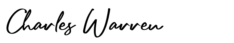 Charles Warren signature