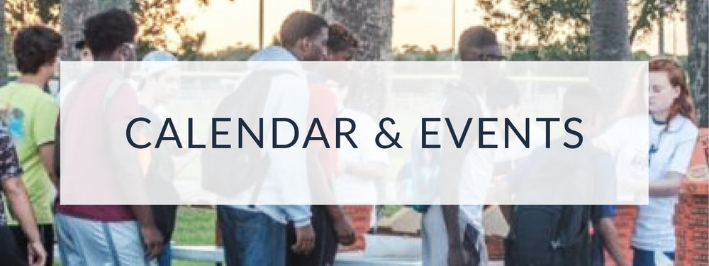 Calendar & events for our church