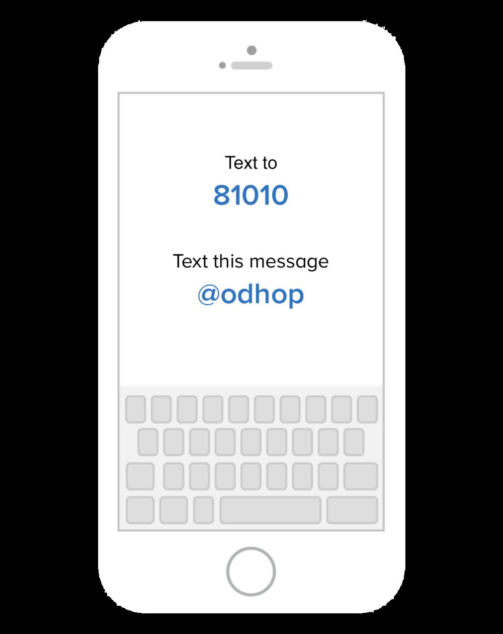 Open Door House of Prayer text message updates