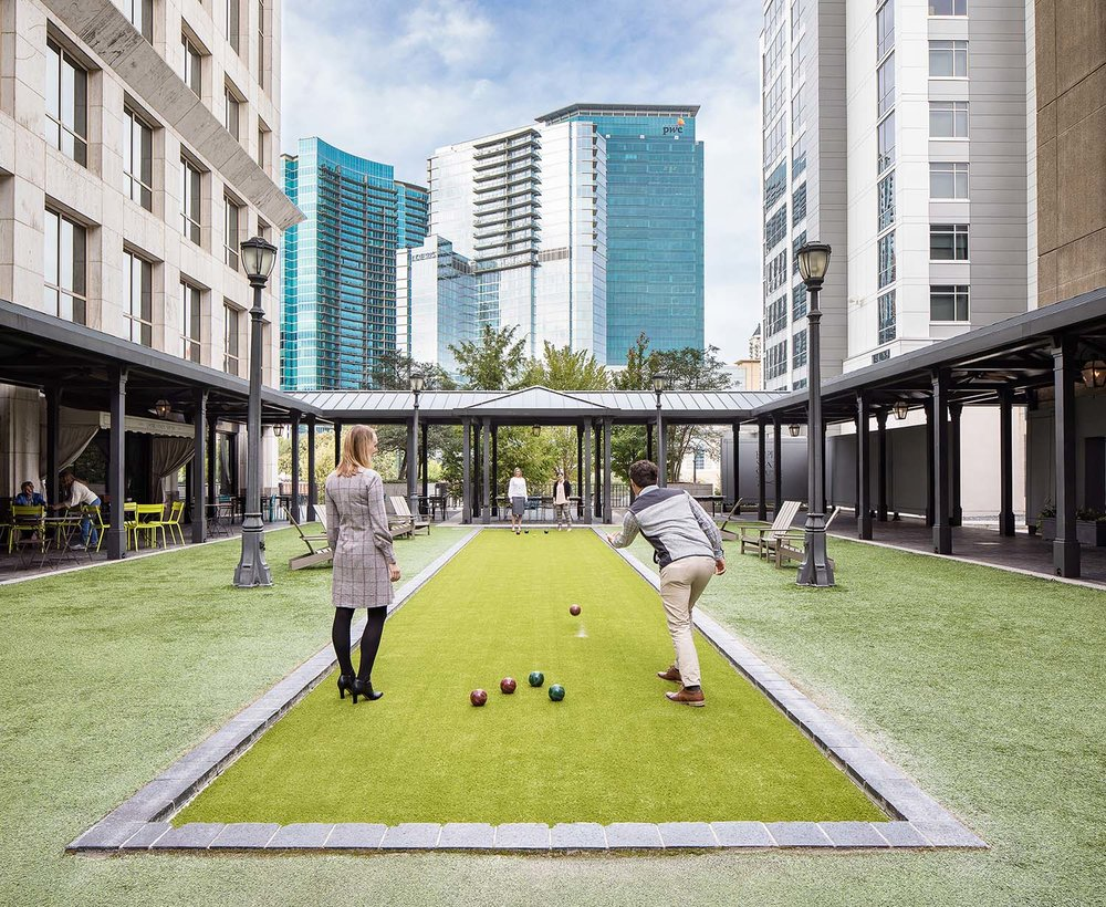 Community Courtyard with Bocce Ball