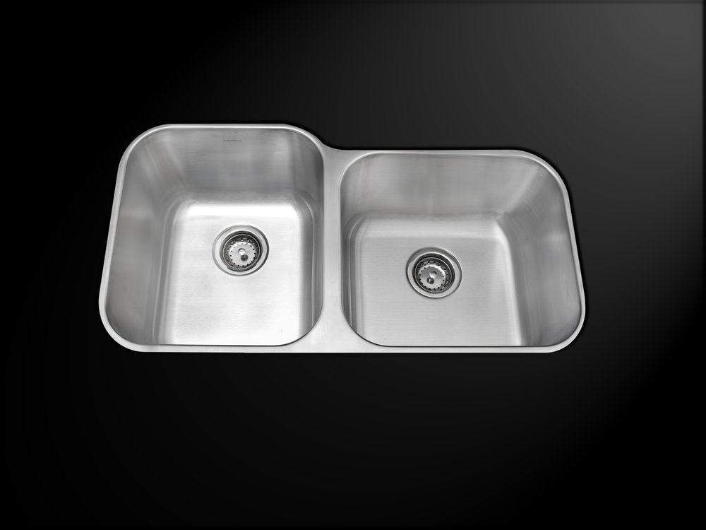 Double bowl undermount deluxe stainless steel kitchen sink -