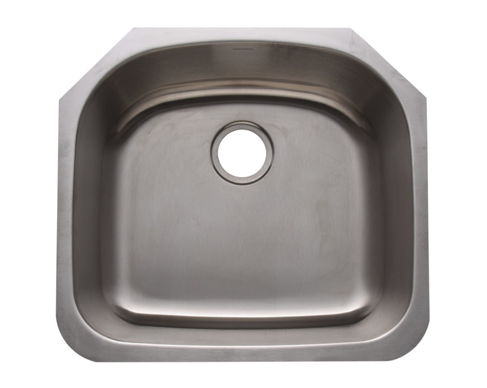 Single bowl undermount deluxe stainless steel kitchen sink -