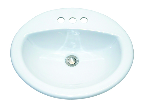 Topmount bathroom porcelain sink -