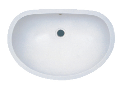 Single bowl undermount solid surface acrylic composite bathroom sink -