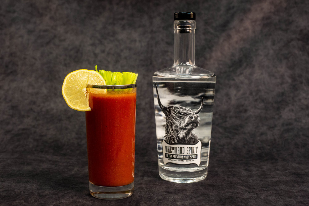 SPIRITED, AND CLASSICALLY DELICIOUS   Blend horseradish, Worcestershire, celery seed and tomato juice until smooth. Add lime, lemon, hot sauce, salt, and pepper to taste. Add the tablespoon of Wheyward Spirit to stabilize the mix. When serving, pour the mix and 2 ounces of Wheyward Spirit into a glass with ice and pour back and forth into another glass a few times to mix. Mix recipe courtesy of  Esquire .   The Mix   1/4 c tomato juice  1/4 inch horseradish, chopped  1 tsp Worcestershire  4 dashes hot sauce  1/2 lime, fresh squeezed  1/2 lemon, fresh squeezed  1 tbsp. Wheyward Spirit  dash of black pepper  dash of sea salt  dash of celery seed   The Drink   8 oz. of mix  2 oz. of Wheyward Spirit