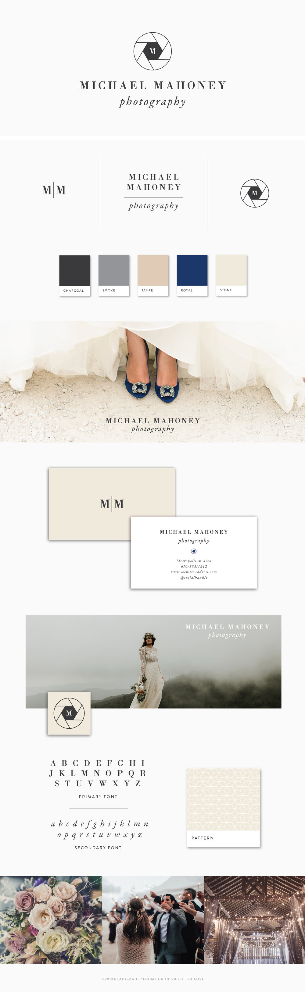 Brand Board Mahoney | Ready-Made from Curious & Co. Creative
