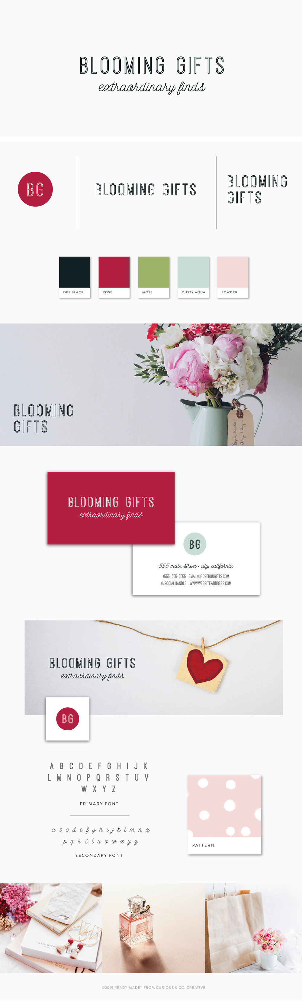 Brand Board Blooming | Ready-Made from Curious & Co. Creative