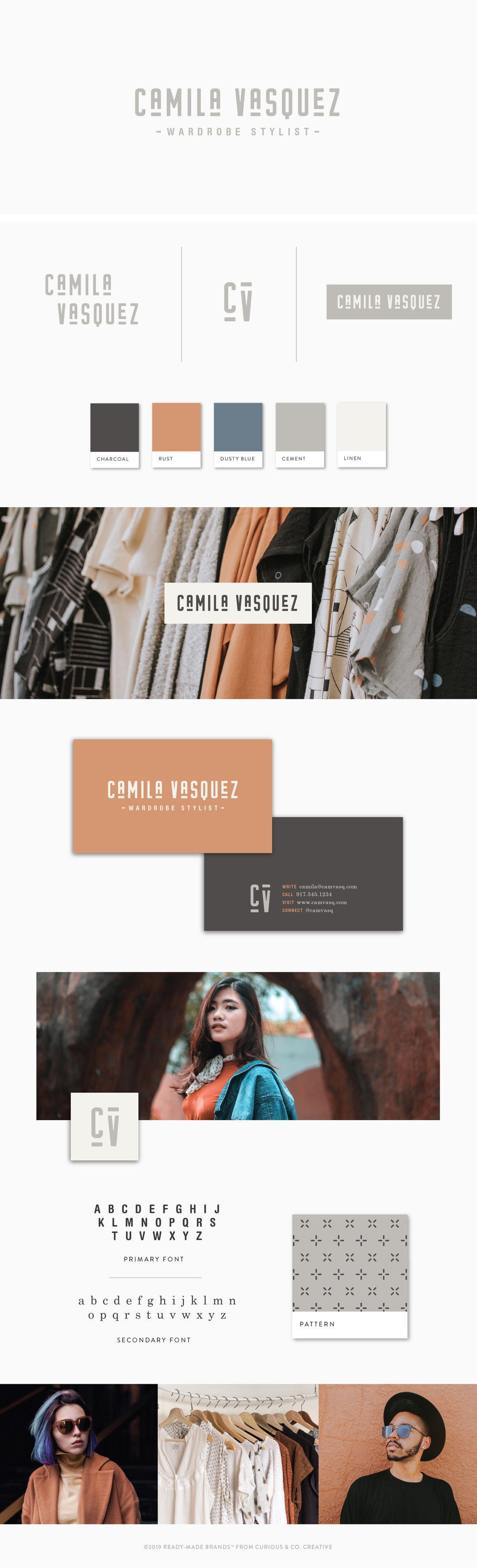 Brand Board Camila | Ready-Made from Curious & Co. Creative