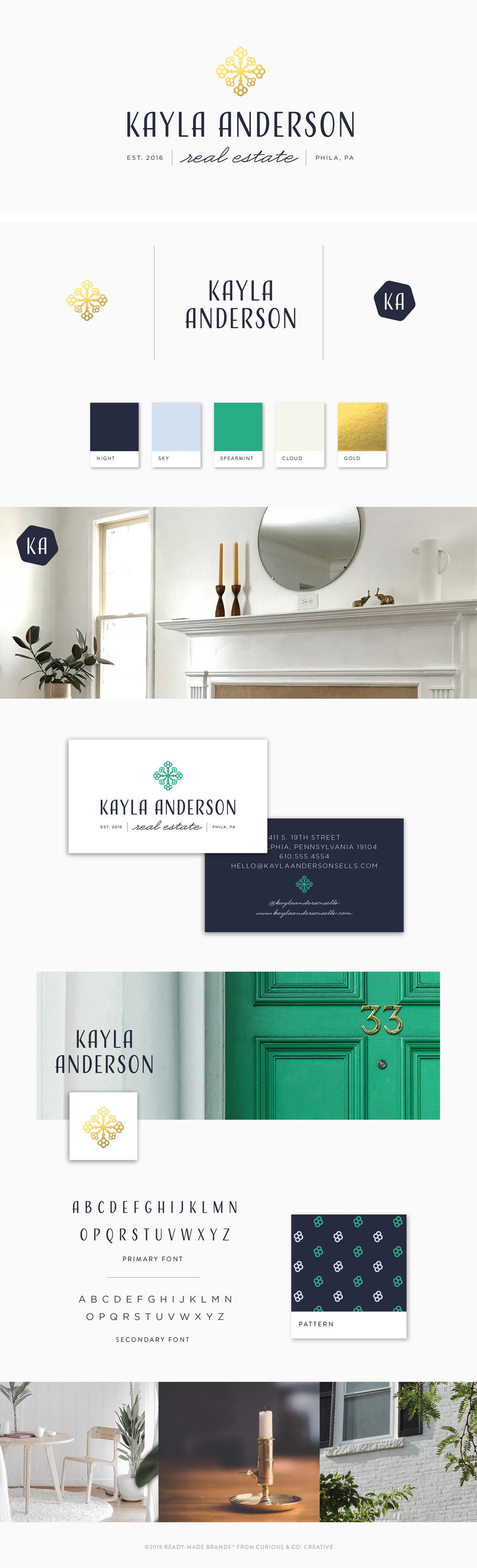 Brand Board Kayla | Ready-Made from Curious & Co. Creative