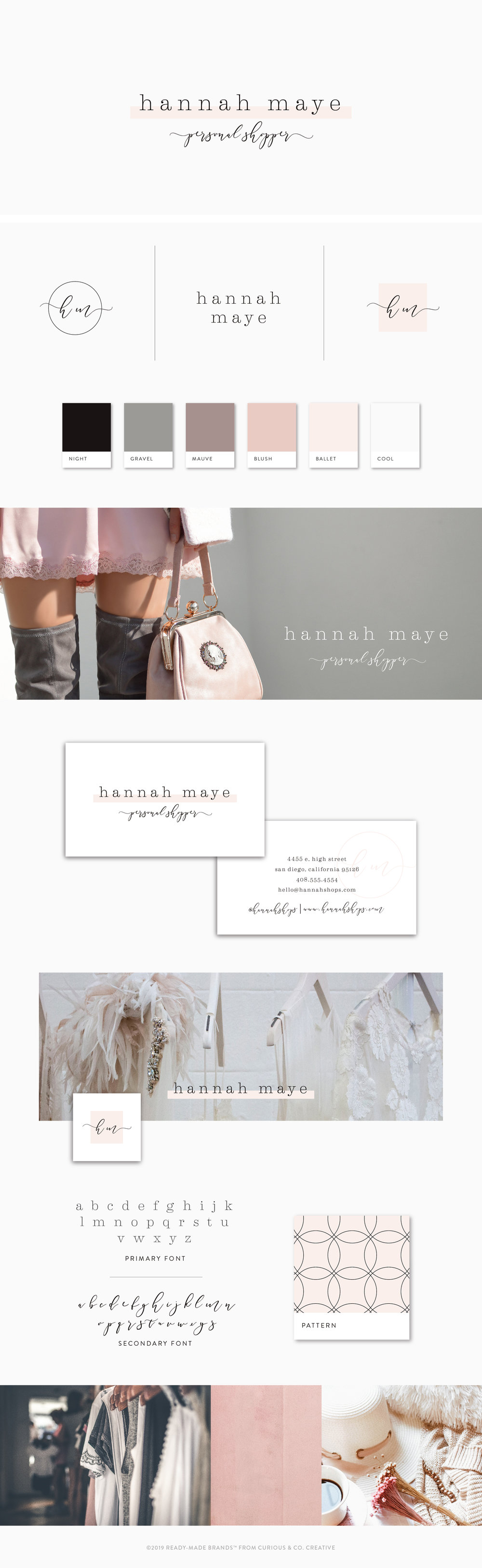 Brand Board Hannah Maye | Ready-Made from Curious & Co. Creative