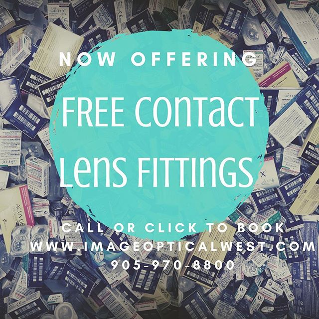 ✔️FREE Contact lens fittings... We are make your experience better by educating and training... A wrong fitting contact lens and improper handing WILL lead to an uncomfortable fit and corneal damage such as abrasions or ocular infections.🤭🤭😧At Image Optical West we now offer FREE CONTACT LENS FITS! We will help you find the most comfortable and safest lenses that fit your individual needs.😎Our FREE Contact lens fits also include FREE trial lenses so you know what you are buying👌👌🕶. . . www.ImageOpticalWest.com 905-970-8800 . . 10088-19 McLaughlin Rd Brampton, Ontario. L7A2X6. . . #healthy #contactlenses #besafenotsorry #acuvue #alcon #coopervision #bauchandlomb #imageopticalwest #wecare #knowledgeispower #youreyecareprovider #getchecked #eyes #eyegotyou #healthiswealth #eyewear #eyecare #perscription #sunnies #glasses #imageoptical