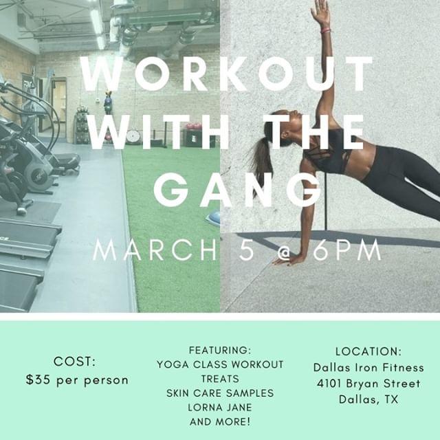 Come workout with us at @dallasironfitness March 5! • • •  #dallasgirlgang #dallasbabes #dallaslife #dallaslocal #dallasevents #supportyourlocalgirlgang #girlgang #texasbabes #dallaslovely #dallasblogger #dallasinfluencers #dallasshopping #dallascommunity #happyhour #dallasbusiness #dallas #texas #dallashealthy #health #fitnessblogger #WomenEmpowerment #WomenEntrepreneurs