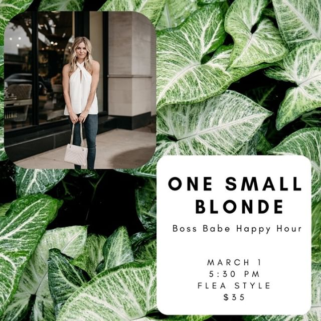 Join us for our next Boss Babe Happy Hour with our expert on deck successful blogger and business woman @onesmallblonde!  Ticket on our website! Click our bio link and head to the EVENTS page!⠀⠀⠀⠀⠀⠀⠀⠀⠀ •⠀⠀⠀⠀⠀⠀⠀⠀⠀ •⠀⠀⠀⠀⠀⠀⠀⠀⠀ #dallasbusiness #dfwblogger #meetup #dallascommunity #dallasshopping #dallasinfluencers #supportyourlocalgirlgang #dallasevents #WomenEmpowerment #dallasfashionblogger #texasfashionblogger