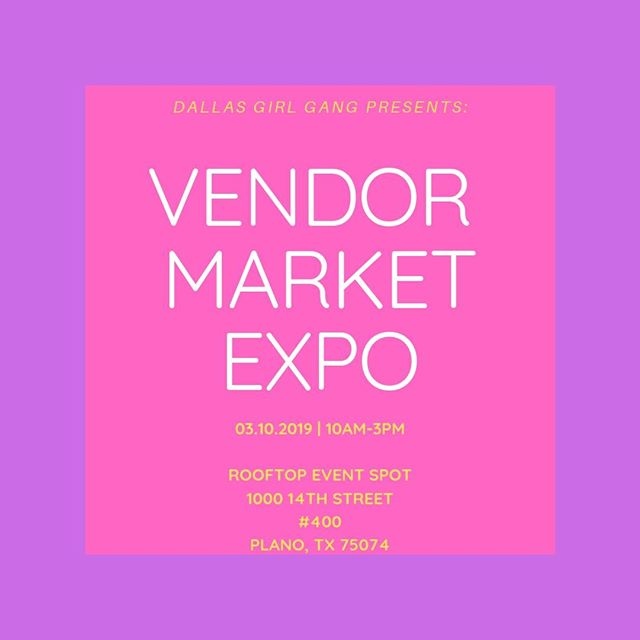 Two weeks until the Vendor Market Expo! Make sure you check it out. We encourage you to get your tickets now to donate to the North Texas Food Bank.⠀⠀⠀⠀⠀⠀⠀⠀⠀ -⠀⠀⠀⠀⠀⠀⠀⠀⠀ -⠀⠀⠀⠀⠀⠀⠀⠀⠀ -⠀⠀⠀⠀⠀⠀⠀⠀⠀ #womeninbusiness #shedoes #womenempowerment #womenentrepreneurs #sheleads #womensupportwomen  #chaseyourdreams #fearlessbabe #texasevents #texaseventplanner #dallaseventplanner #eventstyling #txevents #dallasevents #planoevents #dallasmarket #planomarket #downtownplano