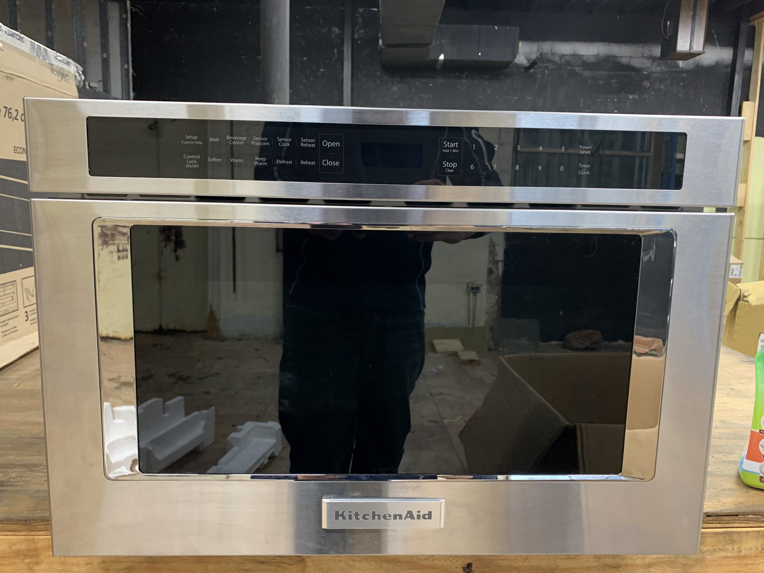 Kitchenaid 24 Stainless Steel Under Counter Microwave Oven Drawer