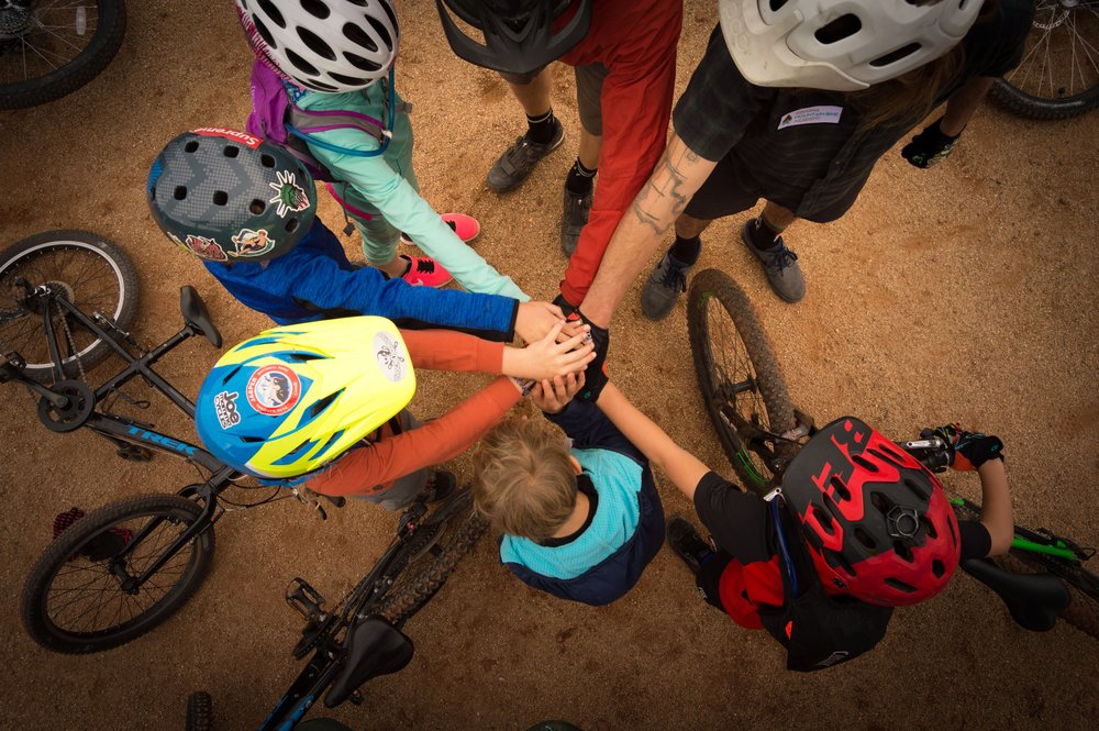 Photo: Team work and fun on display here at the Sedona MTB Festival Mini Clinic