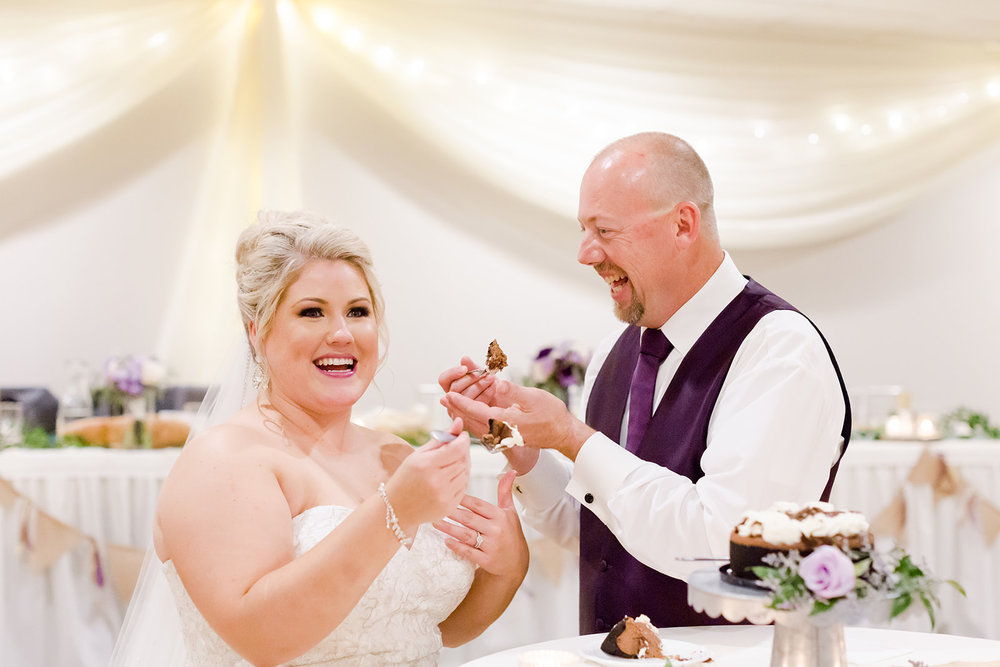 Lindsey White Photography | cake cutting | dessert for a wedding at Royal Cliff in Eagan | South metro wedding venue in Minnesota