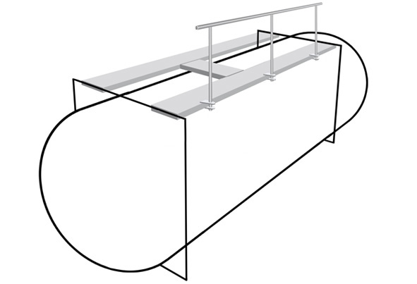 Top operated handrail
