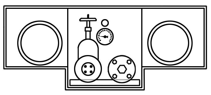Rear cabinet
