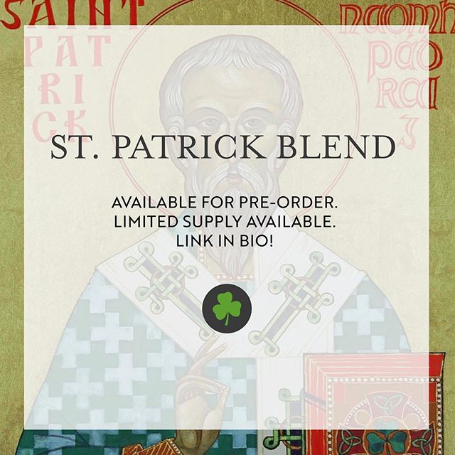 Looking for a way to celebrate St. Patrick's Day this weekend? Our limited supply St. Patrick blend is available for pre-order! Perfect for that weekend brunch 👌🏼 #stmaryscoffee