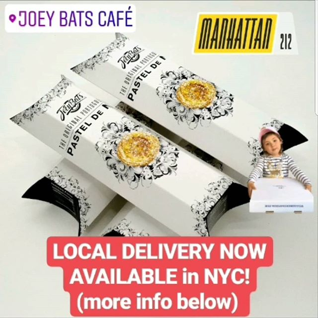 💥💥WE DELIVER!💥💥 You can now have our award winning NATAS delivered right to your door, freshly baked and warm!  Order right from our site and have them sent to your home, office, gym, anywhere!  Let's get it!  Joeybatscafe.com . . . . . #joeybatscafe #pasteisdenata #natas  #Bakedfresh #delivery #nyc #manhattan