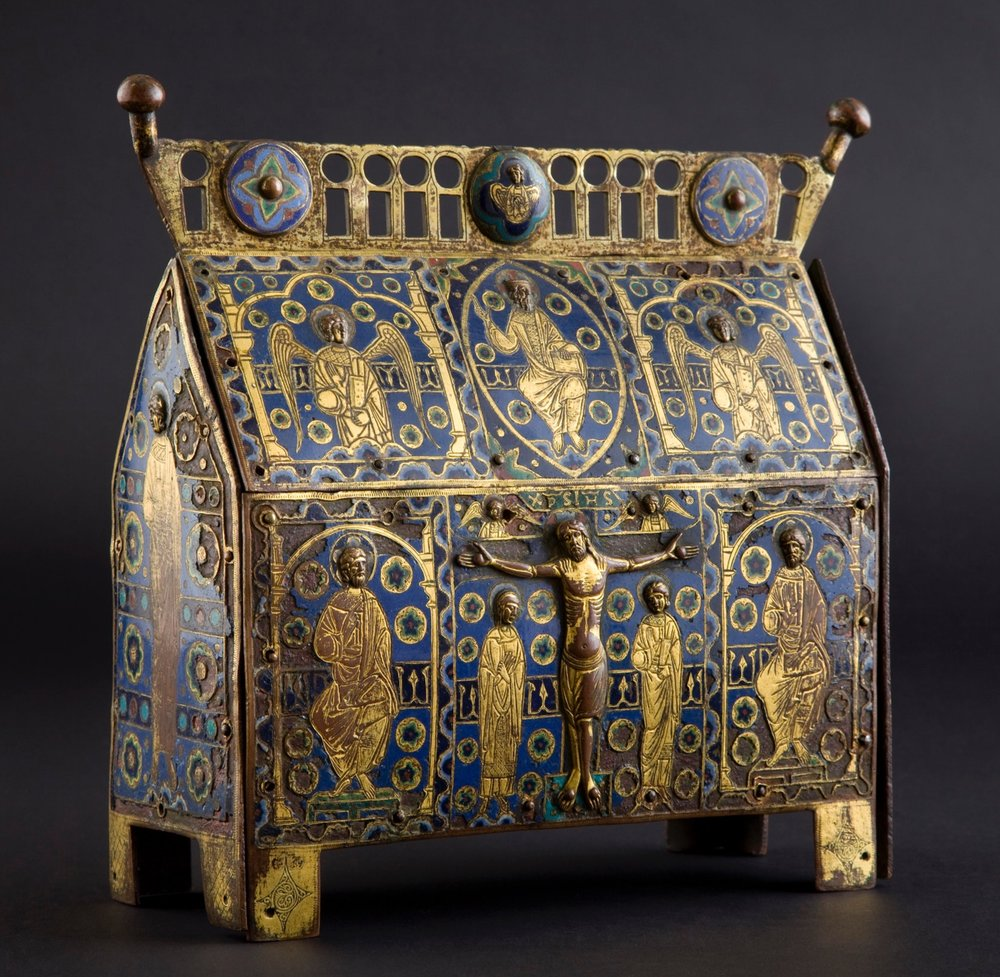 Reliquary Chasse, Limoges, Early 13th century. Photographed for Neue Galerie, New York