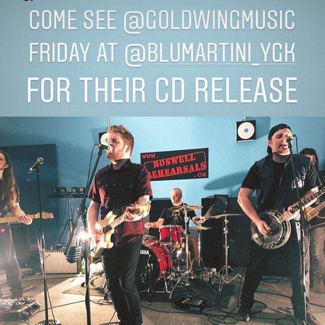 Working hard on their set for April 26th Album Release Party at @blumartini_ygk  @goldwingmusic featuring @rayyyrae (stole your pic Rae 💜) #ygk #ygkmusic #indiemusic #newmusic