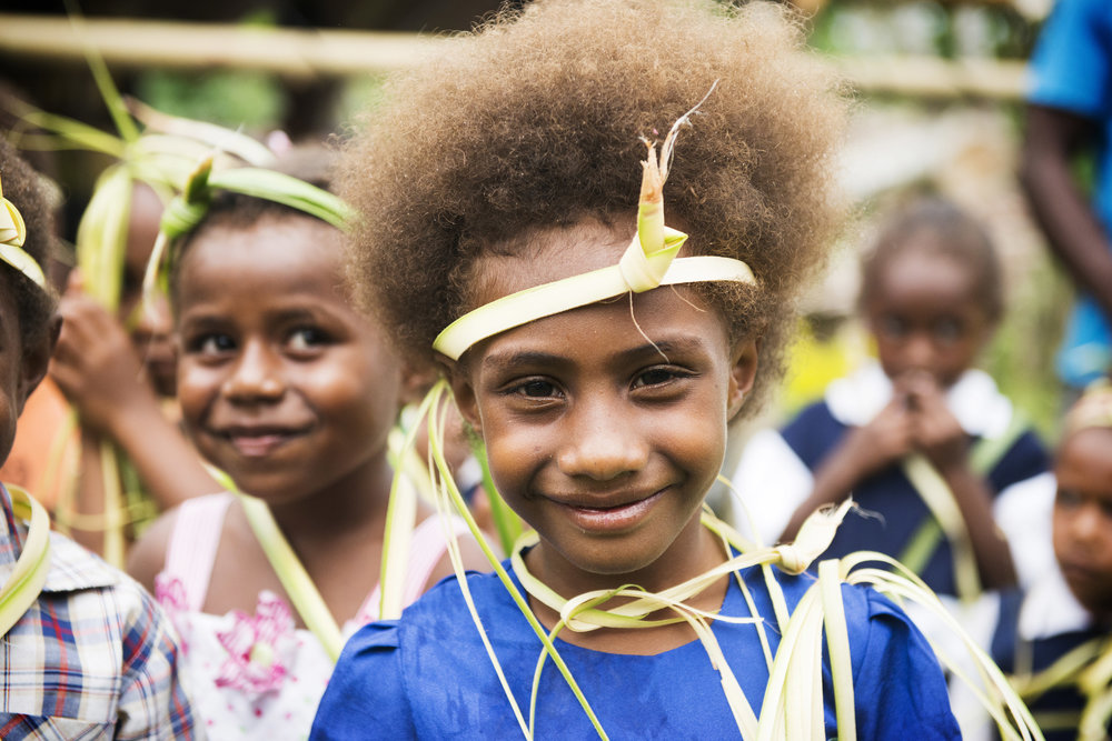 Kindy re-opening, 3 months on from Cyclone Pam. Tongoa, Vanuatu. 2015.
