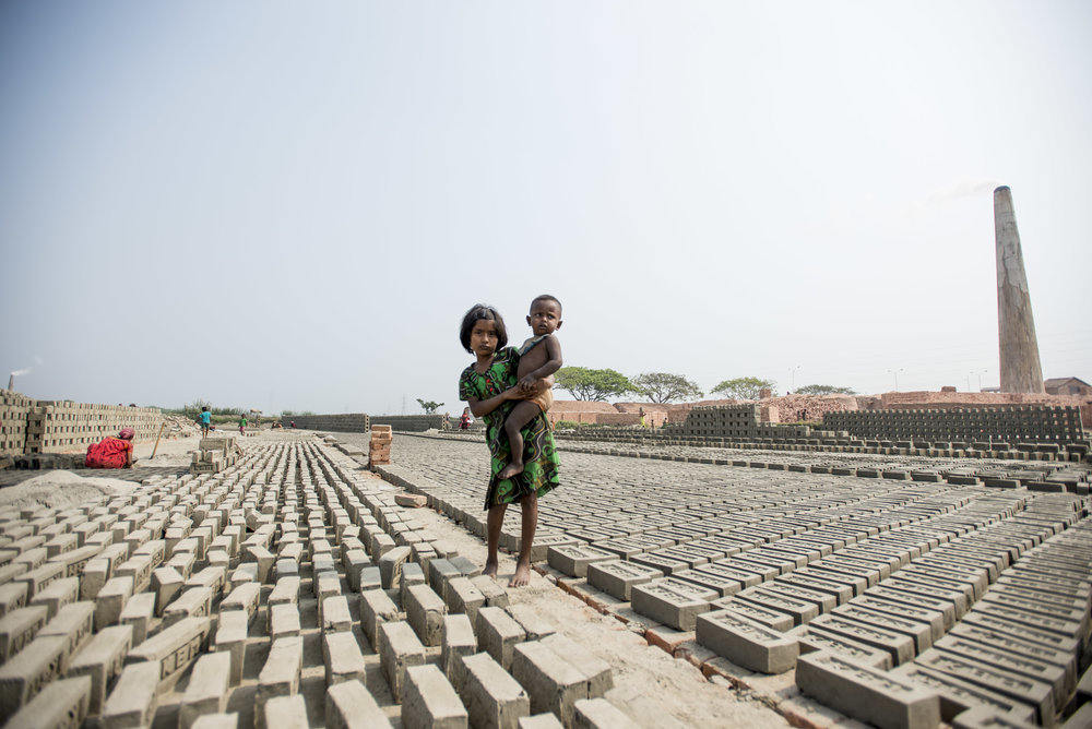 Brick kilns outside Kolkata. India. 2015.