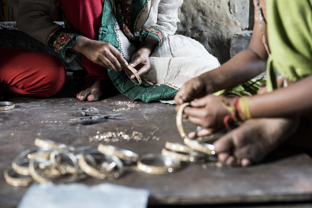 Child Protection program in bangle making village. Kolkata, India. 2015.