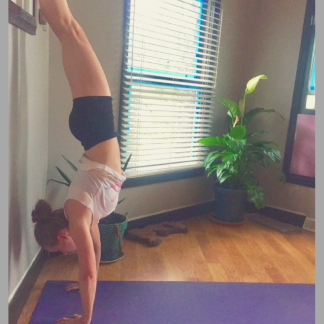Yoga Sequence & Meditation Tips for Stress and Anxiety Relief handstand