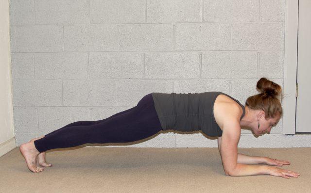 forearm plank crow pose prep