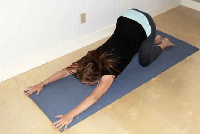 yin yoga-melting heart pose