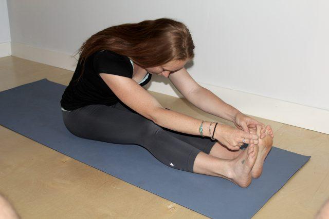 caterpillar pose, yin yoga