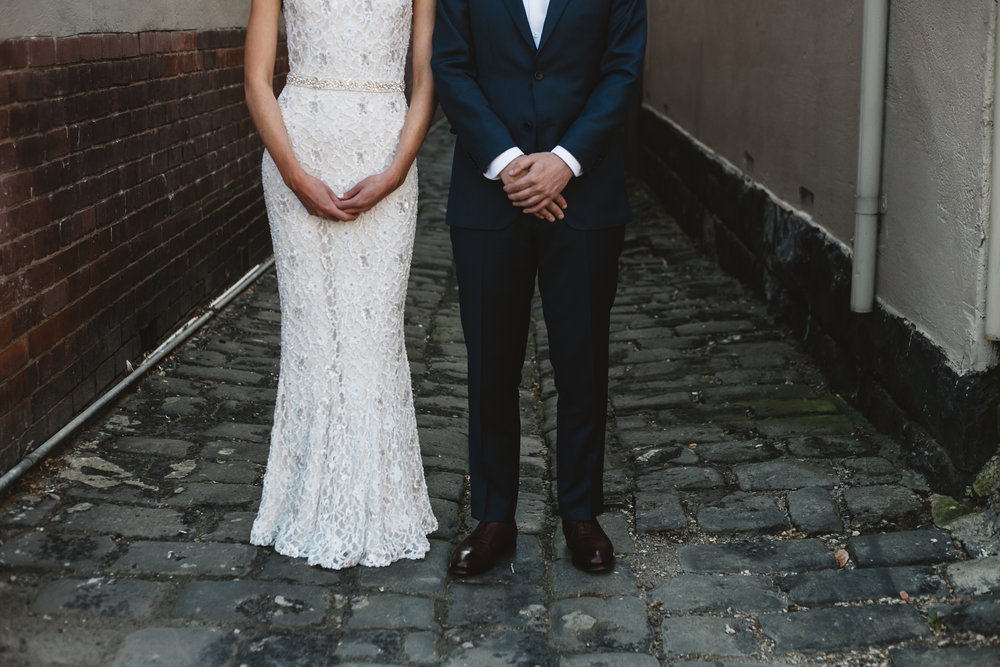 urban weddings in melbourne alleyways and Fitzroy