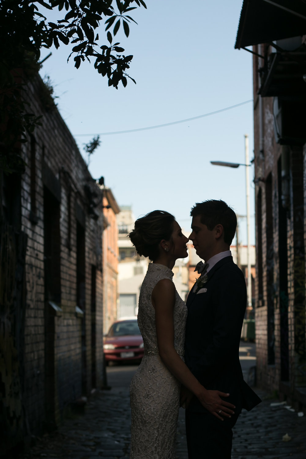 Brunswick and Fitzroy alleyways are great locations for Bridal portraits