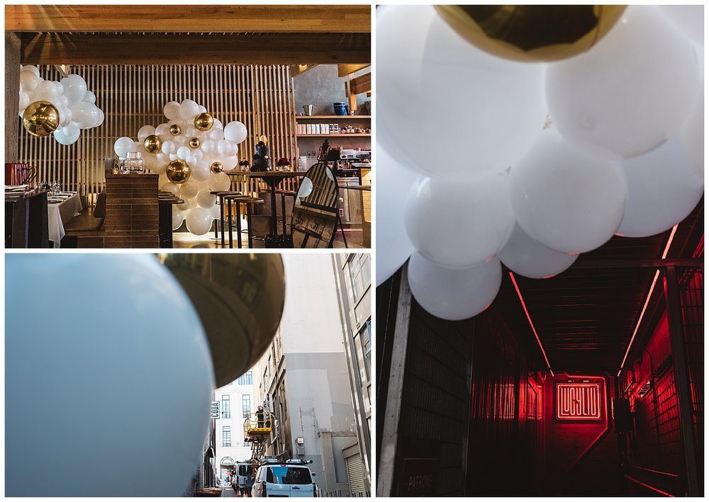 Melbourne Balloon installation at Lucy Liu by  Moonshot Balloons
