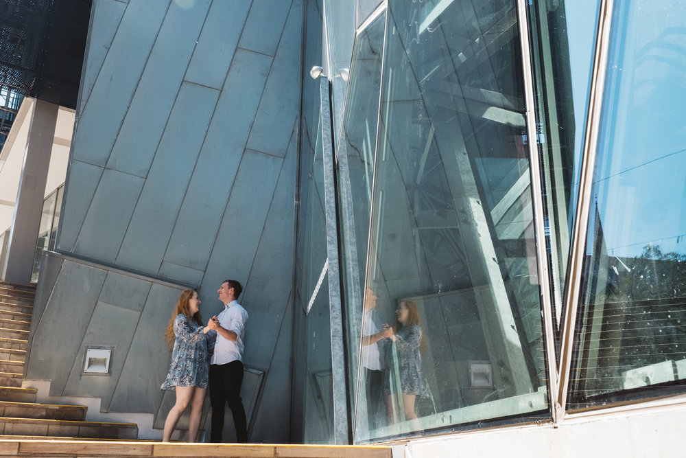 Pre wedding and engagement photography session in melbourne cbd and federation square